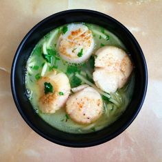 Scallops with lime and cilantro via @cassandra howard (used parsley instead of cilantro)