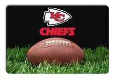 Kansas City Chiefs Classic NFL Football Pet Bowl Mat - L