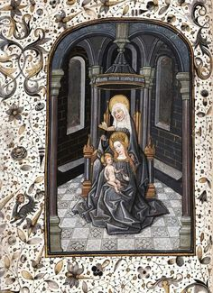 St. Anne and the Virgin and Child (Anna Selbdritt). Philadelphia, Free Library of Philadelphia, Rare Book Department, Widener 005. c.a. XV.
