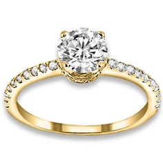0.83 ctw 14k YG Natural I-J Color, VS - SI  Clarity, Accent Diamonds Engagement Ring http://www.pricepointshop.com/product.asp?idproduct=21618