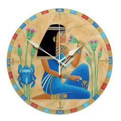 Egyedi, kézzel festet, üveg falióra, hangtalanul működő óraszerkezettel. Mandala, Mandalas