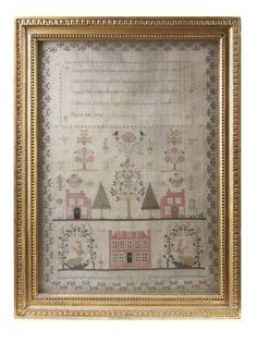An early 19th century sampler by Ann Hill