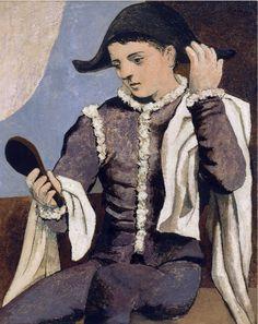 Pablo Picasso - Arlequin au miroir, 1923.
