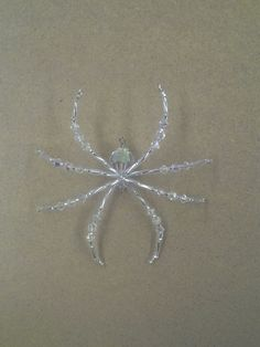 Swarovski Crystal and Glass Beaded Christmas Spider Ornament German Legend