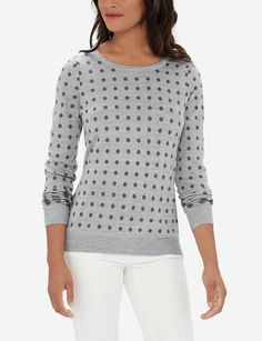 Polka Dot Sweater - A go-to pattern loved by all, it's always an appropriate time for polka dots!