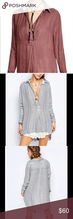 FP Boyfriend Striped Tunic Brand new. Color is the first photo. Other photos are to show style. Loose fit. Free People Tops Tunics