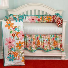red and yellow baby bedding | Turquoise Crib Bedding With Red Carpet
