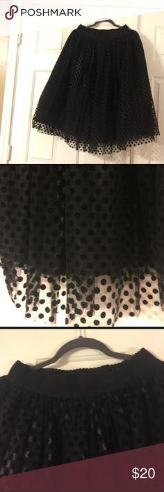 """Skirt Knee length """"tutu"""" skirt w/ polka dots Soprano Skirts A-Line or Full"""