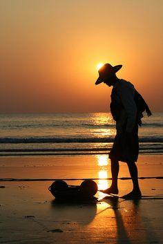 Myanmar Fisherman at sunset