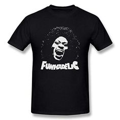Men's Parliament Funkadelic Logo Black T-Shirt by Maven: The Image of The T-Shirt Was Printed Using The Environment-Friendly Ink And Will Not Fade. Parliament Funkadelic, George Clinton, Band Shirts, Logos, Prints, Mens Tops, T Shirt, Environment, Ink
