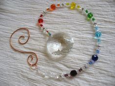 Rainbow Chakra Beaded Suncatcher glass beads: http://www.ecrafty.com/c-2-glass-beads.aspx