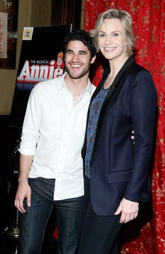 Darren and Jane Lynch at her opening night of Broadway's 'Annie' at The Palace Theater - 16 May 2013 in New York City