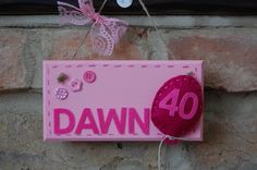 Handmade Personalised Birthday Number Sign with Felt Balloon Local Craft Fairs, Mollie Makes, Birthday Numbers, The Balloon, Fairy Land, Home Decor Items, Hand Stitching, Making Out, Color Schemes
