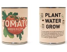 garden in a can, with seeds