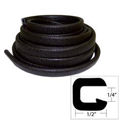 "TACO Flexible Vinyl Trim - ¼"" Opening x ½""W x 25'L - Black - https://www.boatpartsforless.com/shop/taco-flexible-vinyl-trim-opening-x-w-x-25l-black/"