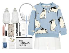 blue sweater by dayanamadness on Polyvore featuring Elie Saab, Golden Goose, Beats by Dr. Dre, MAC Cosmetics, Marc Jacobs, Chanel and The Hand & Foot Spa