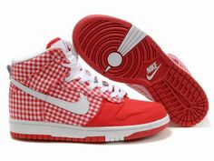 Chaussures Nike Dunk High Rouge/ Blanc [nike_11870] - €63.88 : Nike Chaussure Pas Cher,Nike Blazer and Timerland  https://www.facebook.com/pages/Chaussures-nike-originaux/376807589058057