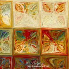 Painting Detail- Modern Tile Art   Tile Art #2, 2015. Modern Mosaic Tile Wall Art Painting by Mark Lawrence