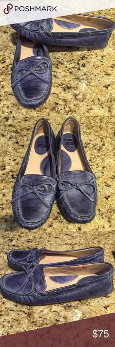 26535c5881a Frye Blue Loafers Reagan Campus Driver Size 7 M