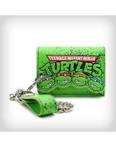 TMNT Embossed Faces Logo Chain Wallet