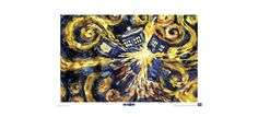 Doctor Who: Starry Night TARDIS Print Enliven any room with this dazzling print! In Doctor Who: Series 5, Vincent Van Gogh paints his vision of the TARDIS exploding in the starry French night. Although the disaster never happens thanks to the Doctor's intervention, Van Gogh's vision gives you an out-of-this-world perspective on his famous masterpiece.