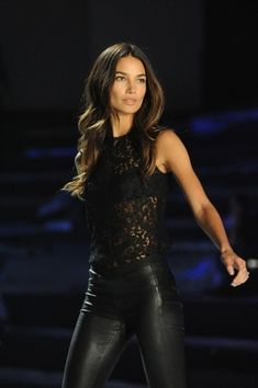 Lily Aldridge - Lace and Leather                              …