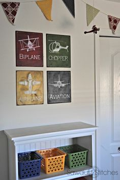 Airplane Room Wall Decor  Sawdust2stitches.com