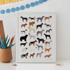 Dogs Print | JAMES BARKER | Wolf & Badger