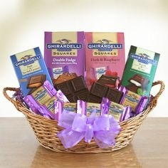 Sweet Ghirardelli Gift Basket by The Gift Basket Gallery -- Awesome products selected by Anna Churchill