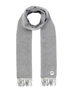 WOOD WOOD OBLONG SCARVES. #woodwood Woven Scarves, Barbour, Winter Wardrobe, Ladies Scarf, World Of Fashion, Color Blocking, Wool, Tassel, Grey