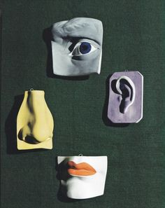 sculpted plates photographed by Erwin Blumenfeld seen...
