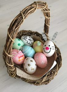 イースターエッグDIY② 作ってみよう♪ 本物の卵の殻のみを使用する際の卵の中身(黄身、白身)の抜き方。