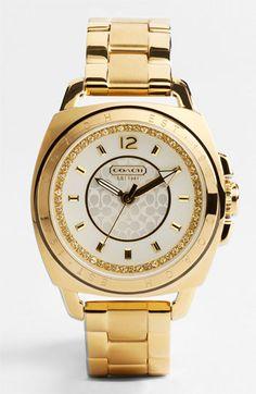 The 'Boyfriend' Crystal Detail Bracelet Watch