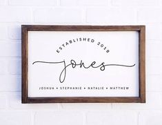 Family Name Established Sign Farmhouse Sign Last Name Sign Custom Name Sign Personalized Sign Family Established Sign Rustic Sign