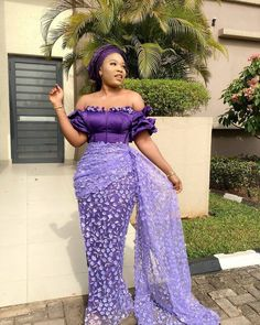 30 Stunning Aso Ebi Dress Styles For Church and Wedding Aso Ebi styles or Aso Ebi dress outfits (African print dress) not only make you look unique Best African Dresses, African Lace Styles, African Traditional Dresses, Latest African Fashion Dresses, African Print Fashion, African Attire, African Clothes, Aso Ebi Lace Styles, Lace Dress Styles