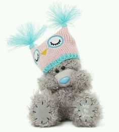 Me to You Tatty Teddy Plush Bear Wearing an Owl Hat by Me To You.Accessorised with an owl hat;Soft cuddly and very cute;Suitable for ages 3 and up. Tatty Teddy, Teddy Bear Drawing, Snowman And The Snowdog, Blue Nose Friends, Ty Beanie Boos, Paddington Bear, Cute Stuffed Animals, Owl Hat, Christmas Gift Box