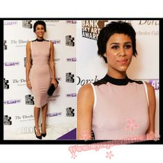 Zawe Ashton little light pink dress South Bank Sky Arts Awards $89.99 each at Mysupercenter.net