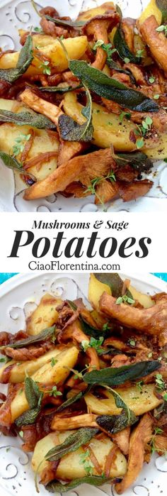 Chanterelle Mushrooms  + Crispy Sage Potatoes Recipe | CiaoFlorentina.com @CiaoFlorentina