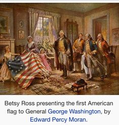 Betsy Ross (January 1, 1752 – January 30, 1836), born Elizabeth Griscom and also known by her second and third married names Elizabeth Ashburn and Elizabeth Claypoole,[1] is widely credited with making the first American flag and changing the stars on the flag from six-pointed to easier-to-produce five-pointed stars.[2][3][4] However, there is no archival evidence that this story is true.[5]