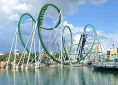 The Incredible Hulk Coaster at Universal Studios Orlando - first and last roller coaster I have been on - scary from the first seconds of the ride.