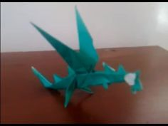 (ORIGAMI) how to make flying dragon (PART 1) - YouTube