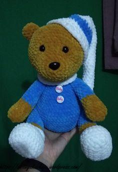 Pizsamás Maci | EniAnyu Kuckója Mac, Teddy Bear, Blanket, Toys, Crochet, Animals, Amigurumi, Activity Toys, Animales