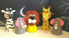 Chagaz'... et vous?: TUTO. DIY : Réaliser des animaux de la savane avec... Paper Crafts For Kids, Easter Crafts, Projects For Kids, Arts And Crafts, Kids Workshop, Waldorf Crafts, Egg Carton Crafts, Summer Crafts, Handmade Toys