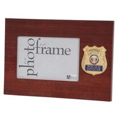 Police Department Medallion Desktop Picture Frame Hand Made By Veterans