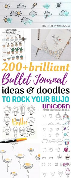 200 Brilliant Bullet Journal Ideas and Doodles to Rock Your Bu Jo | I cannot begin to tell you how much I love bullet journals! Aside from being your personal EVERYTHING, bu jos help support mindfulness and promote creativity. Essentials we need in our hectic lives. Whether you've started your bu jo journey or have thoughts about getting one, here are 200 brilliant bullet journal ideas and doodles to rock your bu jo! | Bujo Inspo | Bullet Journal Inspo