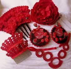 Resultado de imagen de materiales para hacer pendientes de flamenca