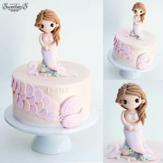 Cute cake for a little girl.