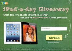 Coupons.com is giving away an iPad every day from 8/3-8/10! Enter daily on www.coupons.com and check www.facebook.com/couponscom to see if you won.
