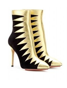 mytheresa.com - Hazel leather and suede ankle boots - boots & booties - Shoes - Sale - Charlotte Olympia - Luxury Fashion for Women / Designer clothing, shoes, bags