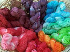 Dying yarn with kool-aid
